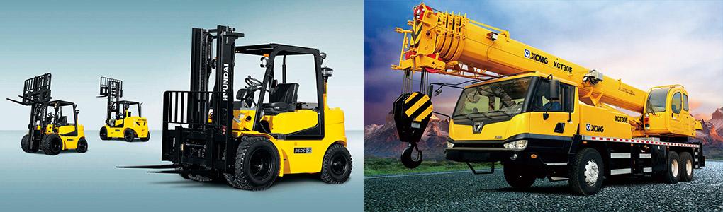 Mobile cranes – Forklifts